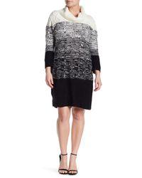 Sandra Darren - Black Cowl Neck Cable Knit Sweater Dress (plus Size) - Lyst