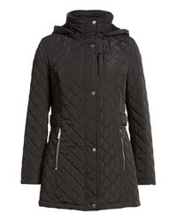 CALVIN KLEIN 205W39NYC - Black Hooded Quilted Jacket - Lyst