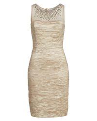 Eliza J - Multicolor Metallic Sheath Dress - Lyst