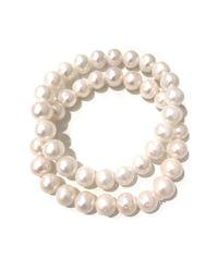 Charlene K - White 80mm Genuine Pearl Bracelet - Set Of 2 - Lyst