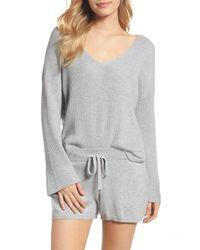 Skin - Gray Vic Lounge Shorts - Lyst