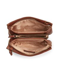 Tommy Bahama Brown Marrakech Leather Crossbody Wallet