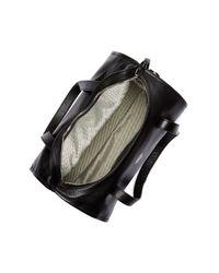 Vince Camuto - Black Chiqi Leather Barrel Grommet Strap Satchel - Lyst