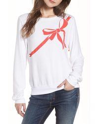 Wildfox White Gift Wrapped Sweatshirt