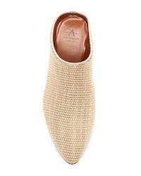 Aquatalia Natural Fife Woven Block Heel Mule