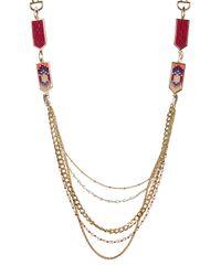 Rebecca Minkoff - Metallic Catalina Seedbead Layered Necklace - Lyst