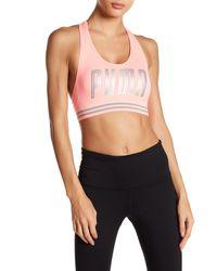 PUMA Pink Hero Logo Bra