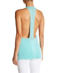 Trina Turk - Blue Perforated Racerback Tank - Lyst