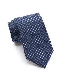 Kenneth Cole Reaction - Blue Crystal Neat Silk Tie for Men - Lyst