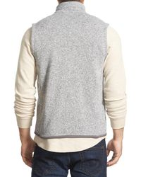 Patagonia - Gray Better Sweater Zip Front Vest for Men - Lyst