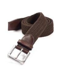 Trafalgar - Brown Cotton Web Belt for Men - Lyst
