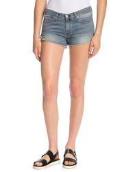 Rag & Bone Blue Cutoff Denim Shorts