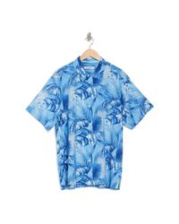 Tommy Bahama Blue Forte Fronds Short Sleeve Shirt for men