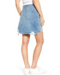 DL1961 - Blue Parker High Waist Denim Skirt (kingly) - Lyst