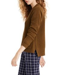 Madewell Multicolor Patch Pocket Pullover Sweater
