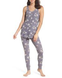 Make + Model - Gray Cozy Brushed Hacci Pajamas - Lyst