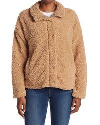 Thread & Supply Natural Wubby Faux Shearling Zip Jacket