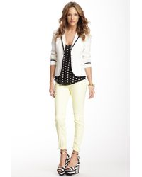 Black Orchid - Multicolor Mid Rise Skinny Coated Jeans - Lyst