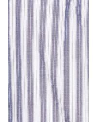Gant - Blue Slim Fit Tech Varsity Stripe Sport Shirt for Men - Lyst