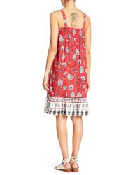 Beach Lunch Lounge - Red Lila Square Neck Tank Dress - Lyst