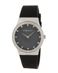 Kenneth Cole - Multicolor Women's Classic Mother Of Pearl Silicone Strap Watch, 34 X 40.5mm - Lyst