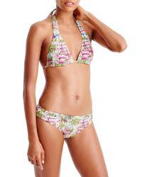 J.Crew - Pink Casablanca Halter Bikini Top - Lyst