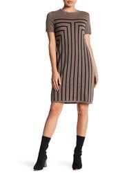 Philosophy Apparel - Brown Geomtetric Cashmere Sweater Dress (petite) - Lyst