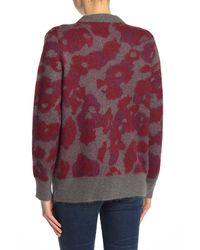 Rag & Bone Multicolor Leopard-print Jacquard-knit Cardigan Merlot