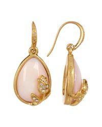 Carolee - Multicolor Pave Rose Teardrop Earrings - Lyst