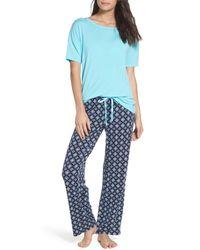 Pj Salvage - Blue Pajamas - Lyst