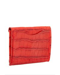 Abas Red Leather Envelope Card Case