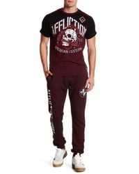 Affliction - Red Marble Sport Logo Joggers for Men - Lyst