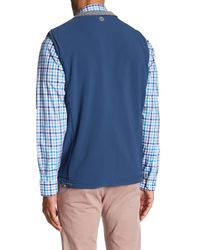 Peter Millar Blue Aberdeen Reversible Vest for men