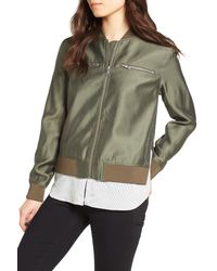 Trouvé - Green Layered Look Bomber Jacket - Lyst