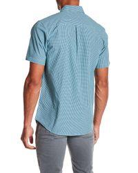 Obey - Blue Brice Short Sleeve Gingham Print Regular Fit Shirt for Men - Lyst