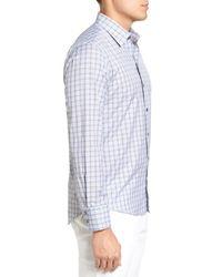 Zachary Prell Gray Cristiano Trim Fit Plaid Sport Shirt for men