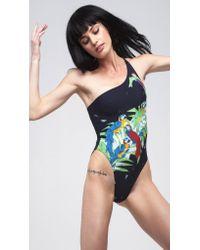 Norma Kamali | Multicolor One Shoulder Mio | Lyst