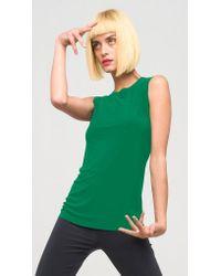 Norma Kamali | Green Sleeveless Swing Top | Lyst