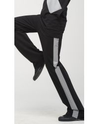 Norma Kamali | Black Boyfriend Sweatpants With Reflective Side Stripe | Lyst