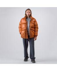 Acne Minus Gloss Coat In Ginger Orange for men