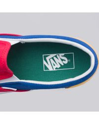 red blue yellow green slip on vans \u003e Up