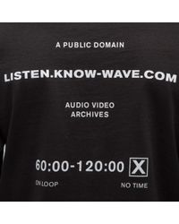 Know Wave Public Domain Long Sleeve T-shirt In Black for men