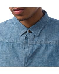 Visvim - Multicolor Kerchief Border Tunic In Chambray for Men - Lyst