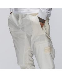 Stone Island 30909 Ghost Patch Cargo Pant In White for men