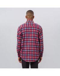 Needles Red Ribbon Flannel Shirt 2017 for men