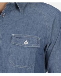 "Bedwin And The Heartbreakers - Blue L/s Chambray Work Shirt ""bob"" for Men - Lyst"