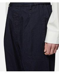 Lemaire - Blue Elasticated Pants for Men - Lyst