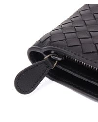 Bottega Veneta - Black 18ss Small Wallet Zip Coin Purse - Lyst