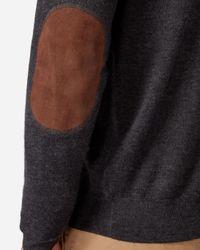 N.Peal Cashmere - Gray The Hyde Fine Gauge Zip Jumper for Men - Lyst