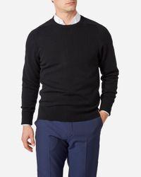 N.Peal Cashmere Black The Buckingham 2ply Cashmere Jumper for men